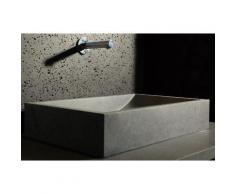 Vasque en pierre grise A poser granit vA©ritable TORRENCE
