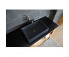 Vasque en pierre granit noir vA©ritable luxe TORRENCE SHADOW