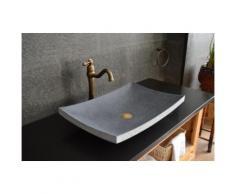 Vasque en pierre naturelle granit gris vA©ritable salle de bain BALI
