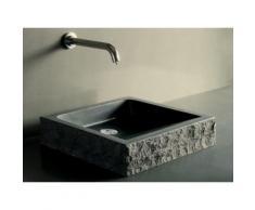 Vasque en pierre noire granit ou basalt vA©ritable 40-60cm BORNEO