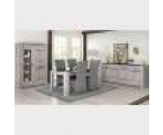 Kasalinea Salle à manger complète moderne couleur chêne gris ANGUS