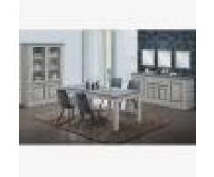 Kasalinea Salle à manger complète couleur chêne clair et gris EMMETT