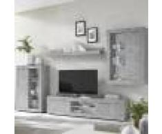 Kasalinea Ensemble meuble TV design effet béton gris ARIEL 4