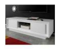 Kasalinea Meuble TV blanc laqué mat design OLIVIA