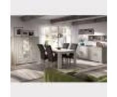 Kasalinea Salle à manger complète contemporaine couleur bois clair OPALINE