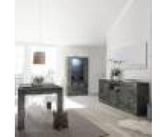 Kasalinea Salle a manger complète gris anthracite moderne MABEL