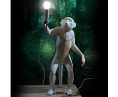MONKEY-Lampe à poser d'extérieur Singe debout avec abat-jour H54cm Blanc Seletti - designé par Marcantonio