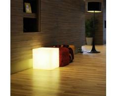 CUBO-Cube lumineux d'extérieur H30cm Blanc Slide