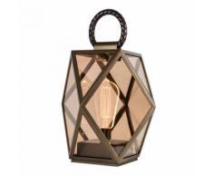 MUSE LANTERN-Lampe d'extérieur LED rechargeable Bronze H25cm bronze Contardi - designé par Tristan Auer