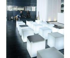 CUBO-Cube lumineux d'extérieur H43cm Blanc Slide
