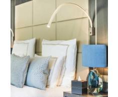 FLEXILED-Applique/liseuse flexible Cuir/Nickel avec interrupteur L90cm ivoire Contardi - designé par King & Roselli