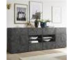 Kasalinea Enfilade 240 cm anthracite design DOMINOS 5-L 241 x P 42 x H 84 cm- Gris Gris