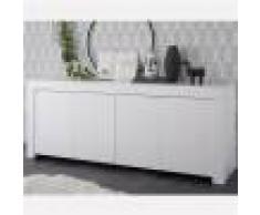 Kasalinea Enfilade 210 cm blanc laqué design AGATHE-L 210 x P 43 x H 86 cm- Blanc Blanc