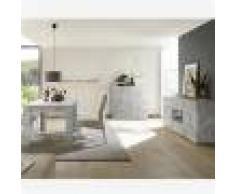 Kasalinea Salle à manger design grise couleur béton DOMINOS 4-L 185 x P 90 x H 79 cm- Gris Gris