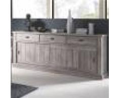 M-027 Enfilade 220 cm couleur bois contemporaine GARANCE-L 220 x P 50 x H 95 cm- Marron Marron