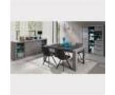 M-027 Salle à manger complète contemporaine couleur bois DUNCAN-L 180 x P 100 x H 78 cm- Gris Gris