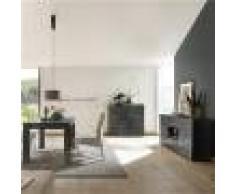 Kasalinea Salle a manger buffet 180 cm gris laqué design NERINA 2-L 180 x P 90 x H 79 cm- Gris Gris