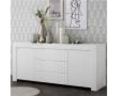 Kasalinea Enfilade 180 cm design blanc laqué AGATHE-L 184 x P 43 x H 86 cm- Blanc Blanc