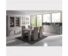 M-027 Salle a manger complete contemporaine couleur bois GARANCE-L 180 x P 100 x H 79,5 cm- Gris Gris