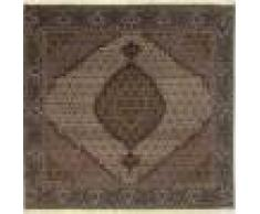 Nain Trading Tapis Tabriz Mahi 202x199 Carré Gris Foncé/Marron Foncé (Laine, Perse/Iran, Noué à la main)