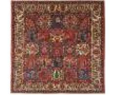 Nain Trading Tapis D'orient Bakhtiar Sherkat 204x201 Carré Rouille/Violet (Laine, Perse/Iran, Noué à la main)