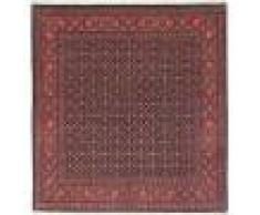 Nain Trading Tapis Tabriz 50Raj 211x199 Carré Marron Foncé/Violet (Laine/Soie, Perse/Iran, Noué à la main)
