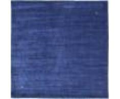 Nain Trading Tapis D'orient Loom Gabbeh 251x250 Carré Bleu Foncé/Violet (Laine, Inde, Travaux d'aiguille)