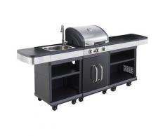 Barbecue gaz COOK'IN GARDEN CUISINE EXTERIEURE + ROBINET