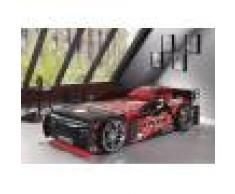 Lit enfant voiture de course noir 90x200