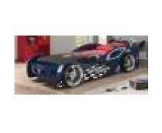 Lit enfant voiture de course bleu 90x200