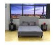 Terre de Nuit Matelas futon mousse memoire coton, anti-taches, gris clair 90x200