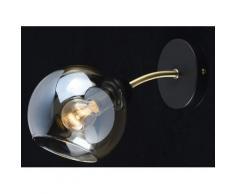 Applique murale en métal doré teck laitonné et verre 1 ampoule – Megapolis