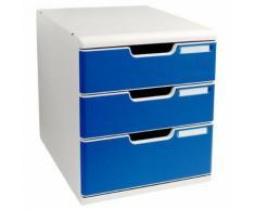 module classement 3 tiroirs coloris bleu