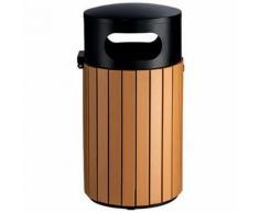 poubelle extérieur effet bois 40l