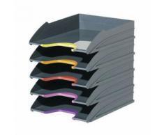 durable 1 corbeille à courrier varicolor - lot de 5
