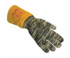 gants de protection thermique anti chaleur t10 noir/jaune