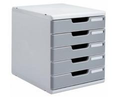 module classement 5 tiroirs coloris gris