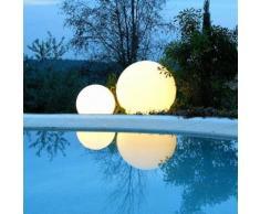 GLOBO OUT-Lampe de sol / Suspension d'extérieur Ø60cm Blanc Slide