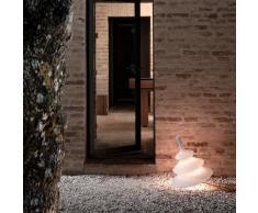 PIRLA-Lampe de sol d'extérieur Résine H55cm Blanc Karman - designé par Bizzarini Design