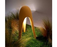 CYBORG OUTDOOR-Lampe de sol d'extérieur LED Tripode en ciment H61cm ocre Martinelli Luce - designé par Karim Rashid