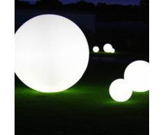 GLOBO OUT-Lampe de sol d'extérieur Ø80cm Blanc Slide