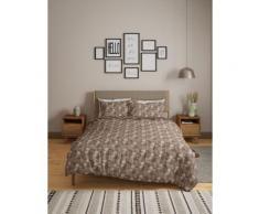 Parure de lit 100 % coton à motif palmier - Multi/Neutral