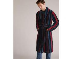 Marks & Spencer Pure Cotton Striped Dressing Gown - Multi - S
