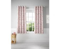 Rideaux enfants opaques à oeillets et motif licorne - Pink Mix