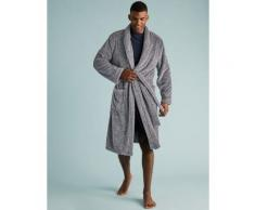 Marks & Spencer Supersoft Dressing Gown - Grey Marl - S