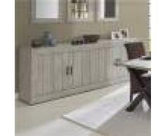 Kasalinea Enfilade contemporaine couleur bois MEREDITH-L 245 x P 48 x H 92 cm- Gris