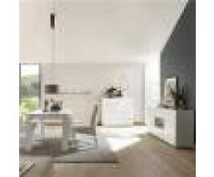 Kasalinea Salle à manger design blanc laqué buffet 180 cm NERINA-L 180 x P 90 x H 79- Blanc