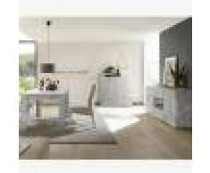 Kasalinea Salle à manger design grise couleur béton DOMINOS 4-L 185 x P 90 x H 79 cm- Gris