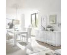 Kasalinea Salle à manger design blanc laqué buffet 180 cm nerina