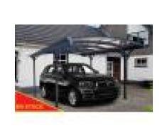 Carport aluminium 3,63x3m, abri voiture anthracite